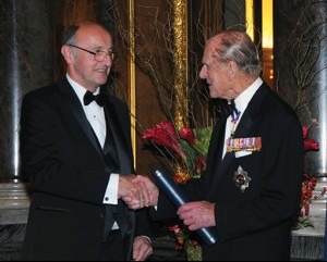 David C. Jiles receiving his award from His Royal Highness Prince Philip. Photo by Rob Lacey, Photographer