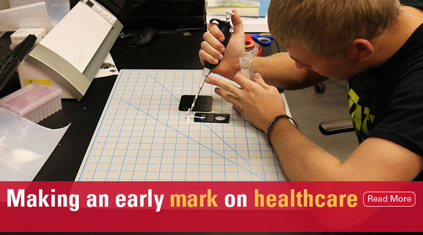 making an early mark on healthcare