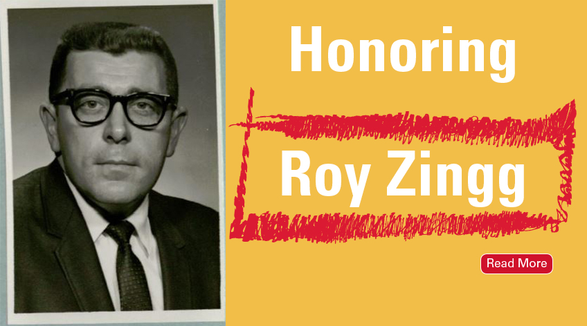 Honoring Roy Zingg