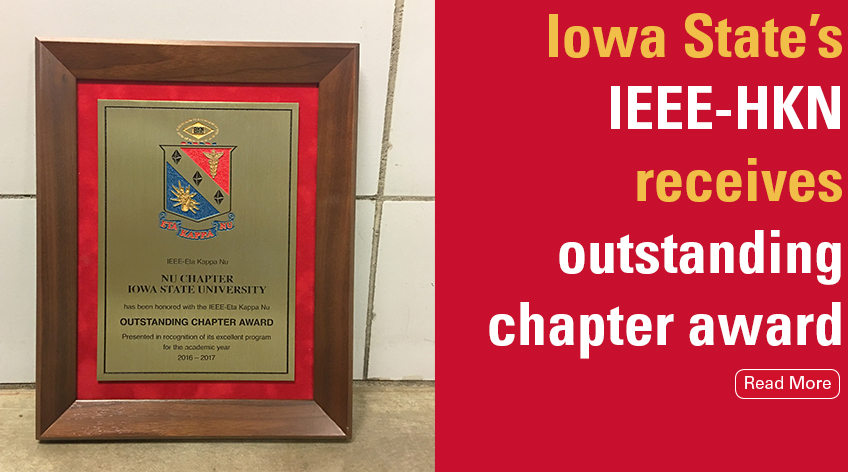 Iowa State's IEEE-HKN receives outstanding chapter award