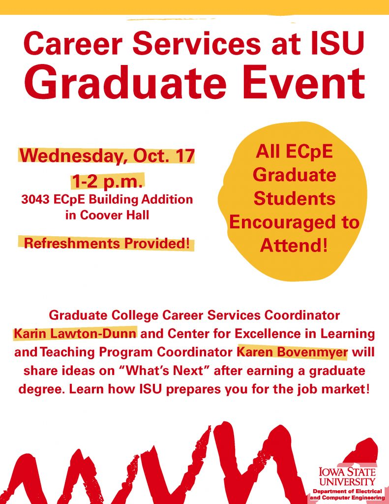 Career Services at ISU Graduate Event Information