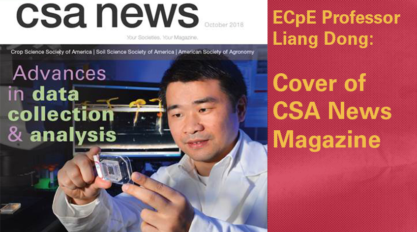 Liang Dong Cover of CSA News Magazine