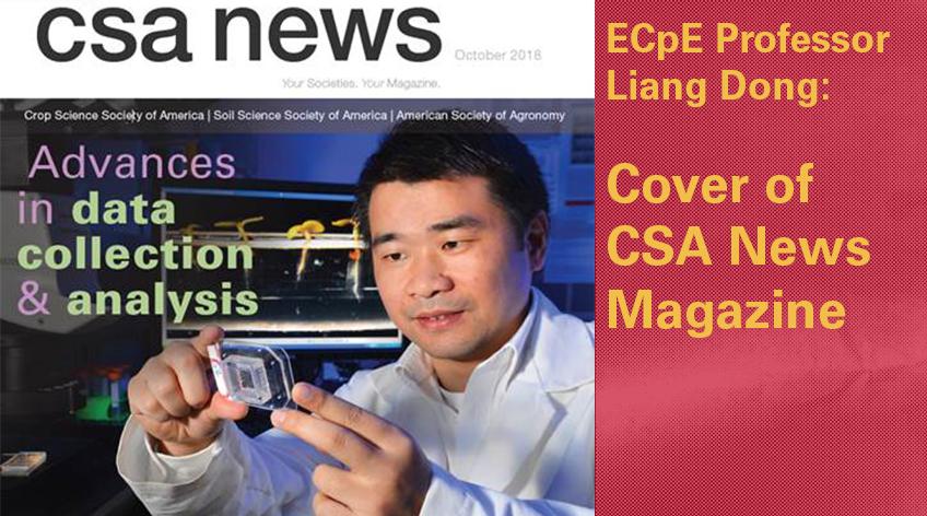 Liang Dong Cover of CSA News Magazine